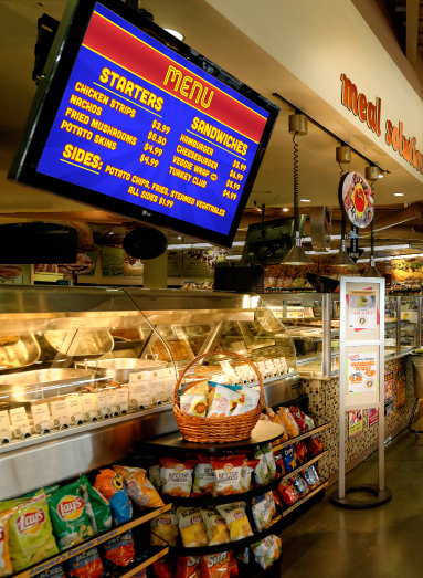 Grocery Stores Benefit with Digital Signage