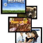 diverse content on digital signage